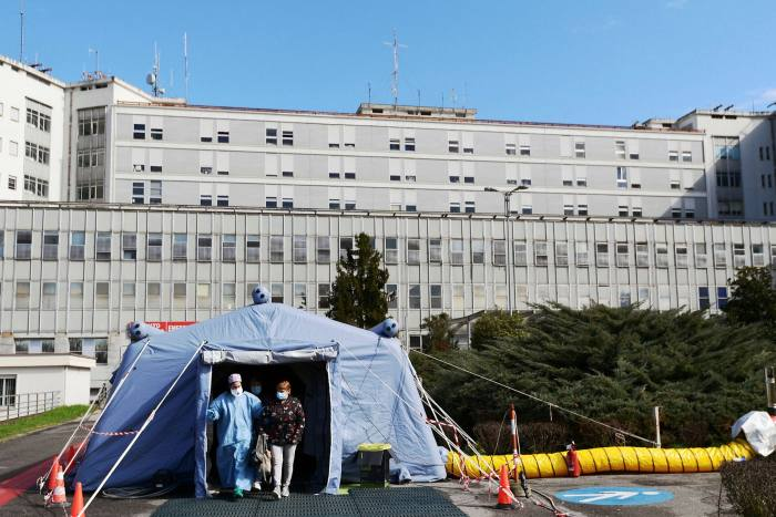 Triage tent in Cremona: Italy-based Andrea Arosio says crisis tested remote working