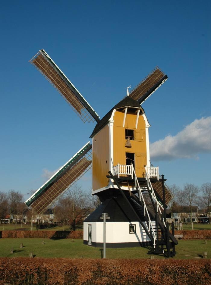Molen van Jetten mill in Uden, the Netherlands, which mills grains for Millstone distillery