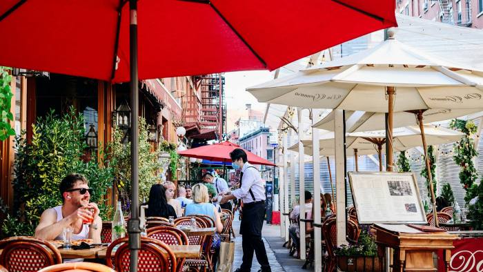A restaurant in the Little Italy neighborhood of New York