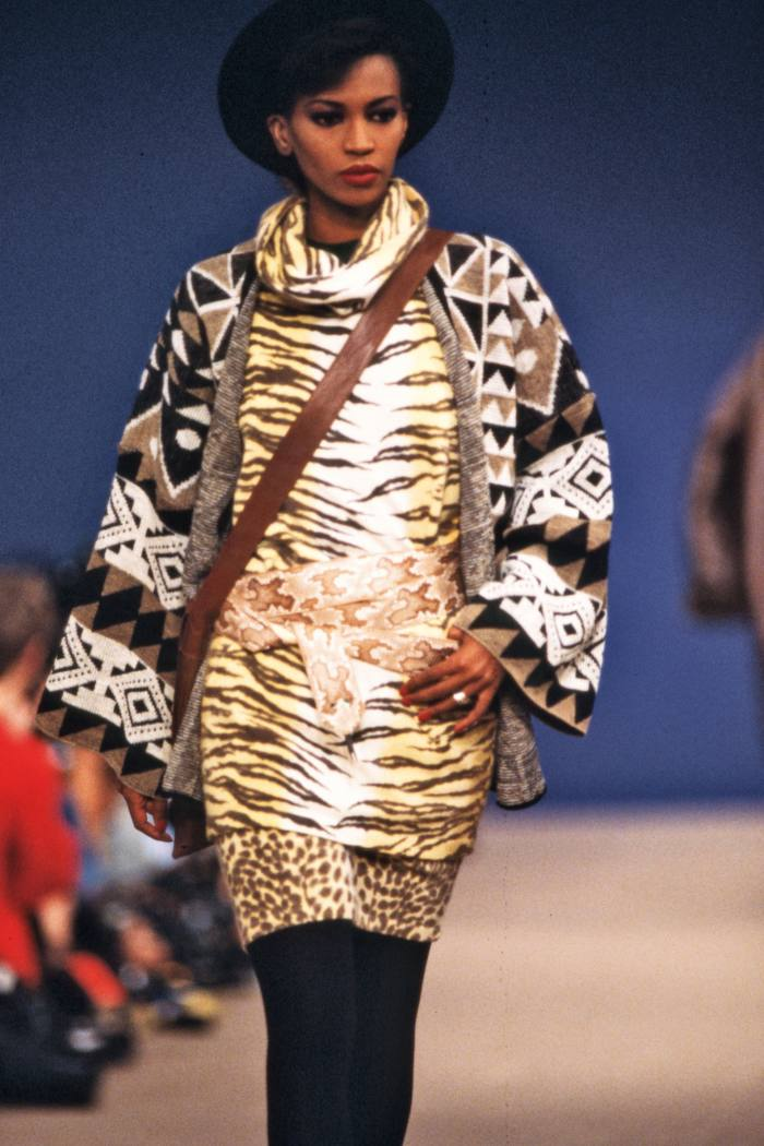 Tiger print in Kenzo's a/w 1983 collection