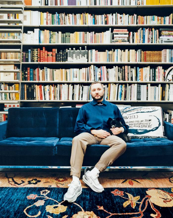 First prize for most impressive bookshelf? Dior's artistic director of menswear Kim Jones must surely have a shot. We have nothing but admiration for a man who gets to choose which of his four editions of Virginia Woolf's Orlando (including a signed first edition, for the record) he wants to take to bed