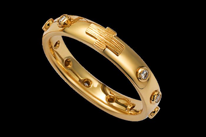 Dolce &Gabbana yellow gold and diamond rosary rings, POA