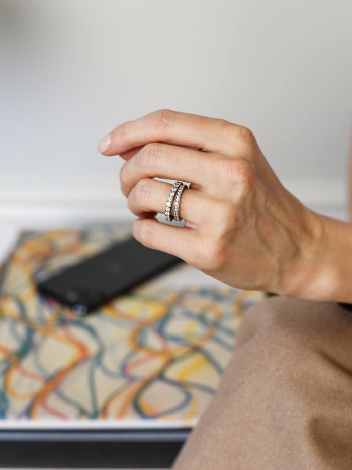 Her Cartier wedding and engagement rings