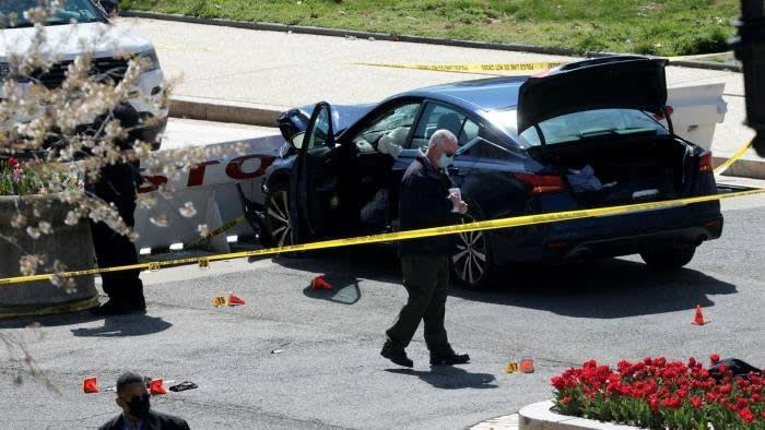 La voiture s'est écrasée vendredi contre une barrière protégeant le bâtiment du Capitole à Washington © Getty Images