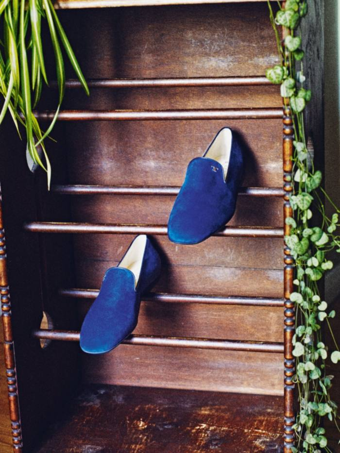 Tod's suede Timeless slippers, £330