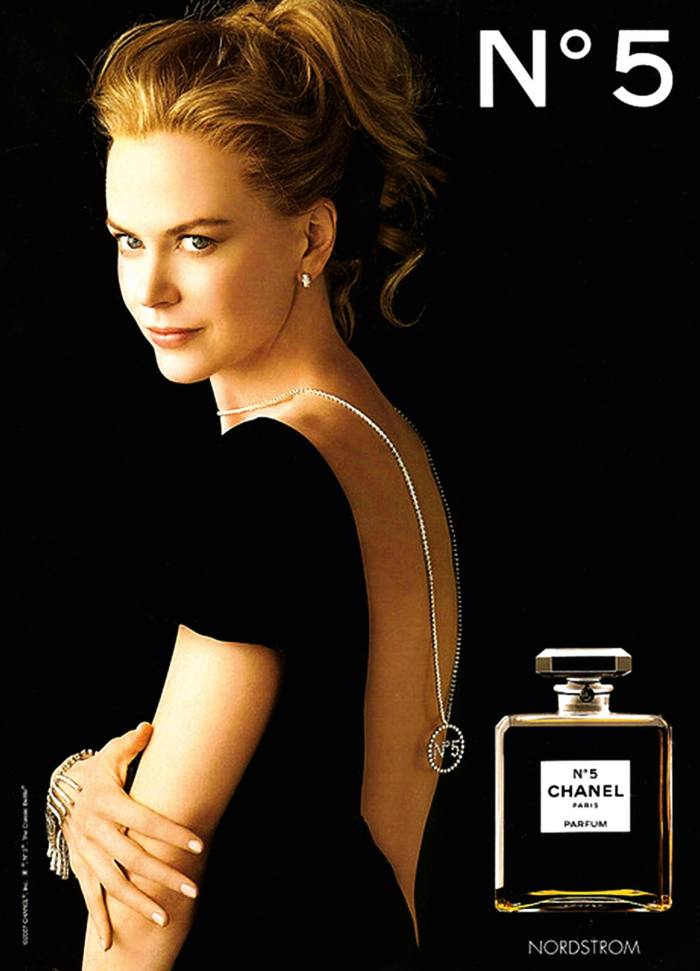 Chanel's 2004 campaign for No 5, featuring Nicole Kidman, played on the idea of the fragrance as a jewel