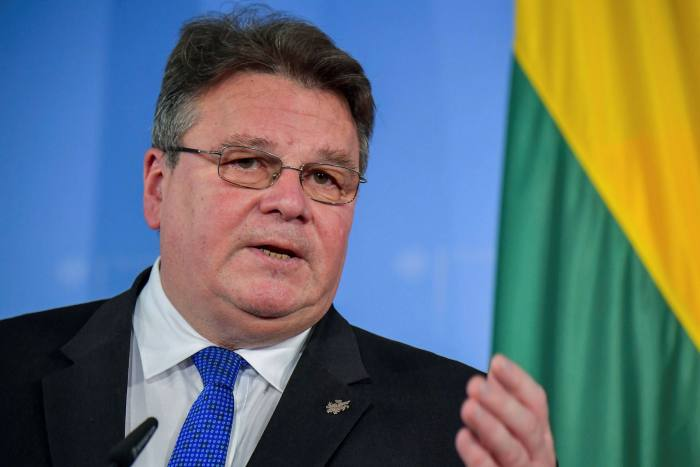 Linas Linkevicius said Europe had to give 'meaningful and tangible' support to the Belarusian opposition
