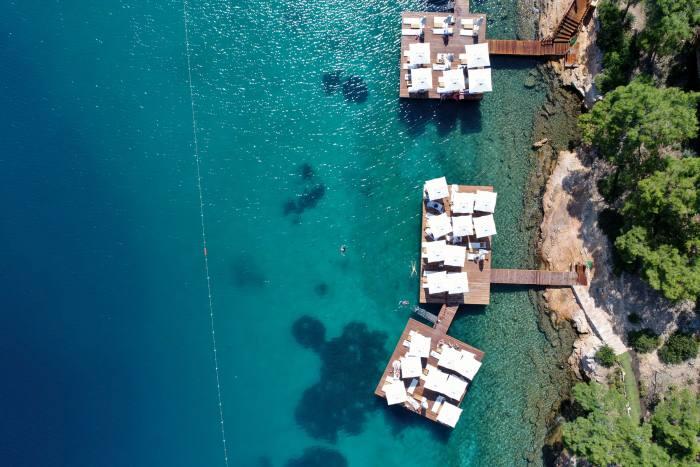 Bathing piers at Bodrum Loft