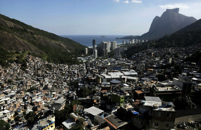 The Rocinha favela in Rio. More than 32% of the city's youth aged between 18 and 24 are unemployed