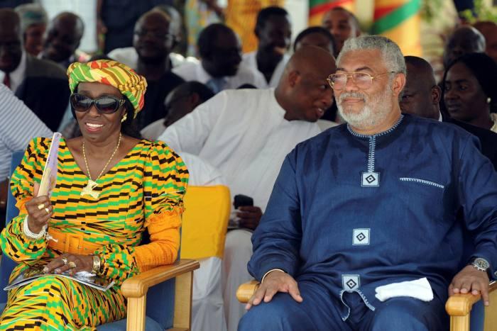 With his wife NanaKonadu, whom he met at school in Accra