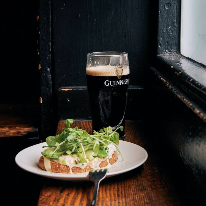 As well as pub classics, the menu features plenty from the sea and good vegetarian options