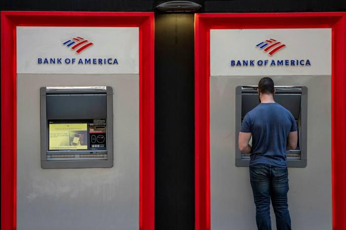 Bank of America cash machines