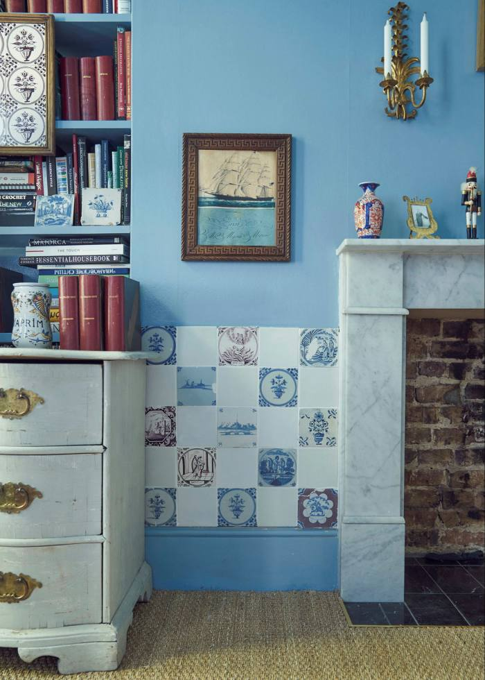 Delft tiles in a room by interior designer Emma Grant