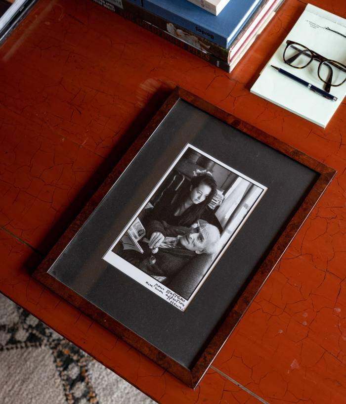 Harumi and her father Balthus as photographed by Henri Cartier-Bresson