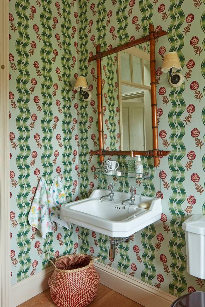 Interior designer Rita Konig's bathroom at her home in County Durham