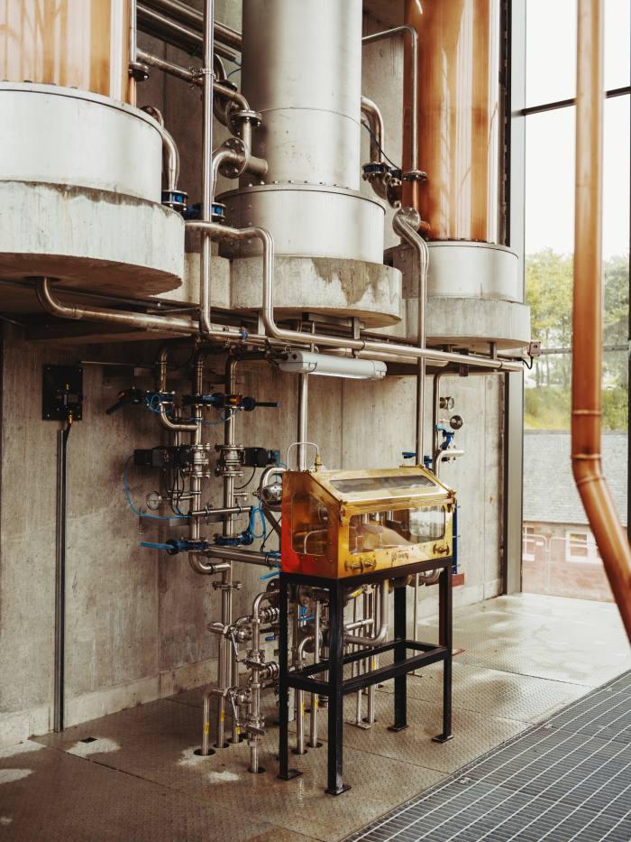 The Lighthouse distillery's spirit safe