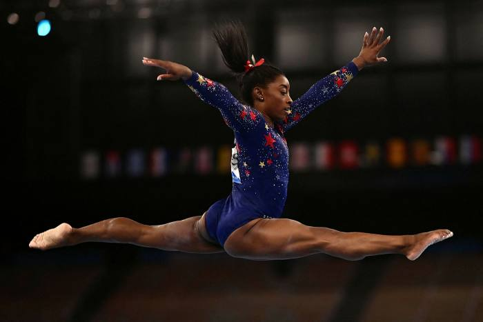 Simone Biles of the United States will participate in the women's qualified gymnastics balance beam event of the Tokyo 2020 Olympics.