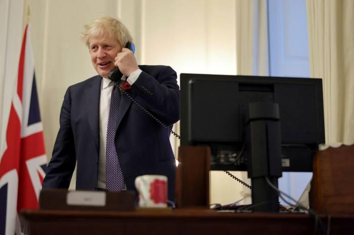 Boris Johnson calls Joe Biden after he won last November's US presidential election