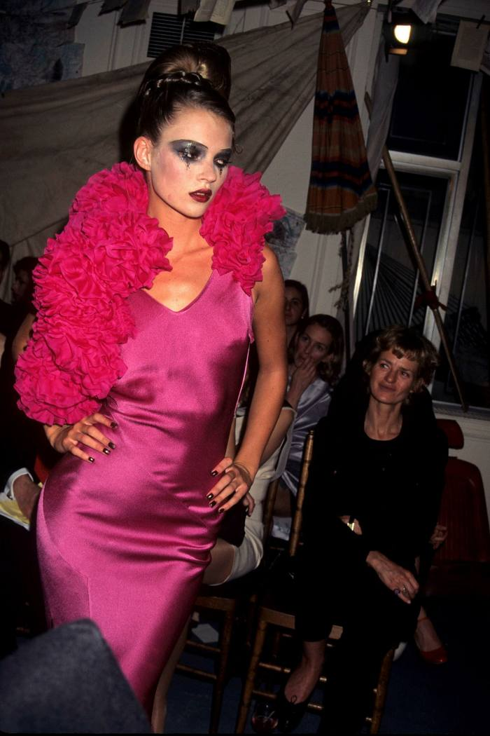 Kate Moss in a John Galliano autumn dress from autumn / winter 1995, available at One of a Kind for £ 25,000.  .  .