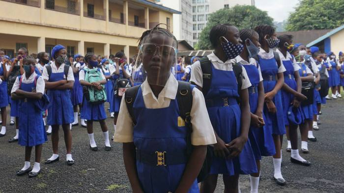 Pupils return to Freetown Secondary School for Girls in October after lockdown