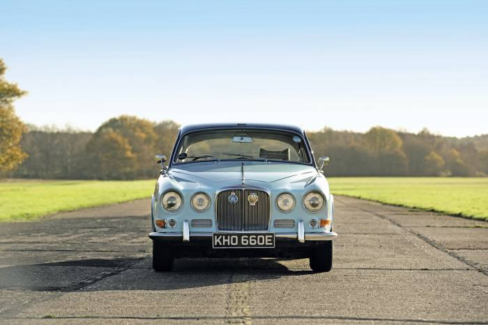 The car, painted in Mountbatten's bespoke blue, is being auctioned by Sotheby's foran estimated £10,000-£20,000