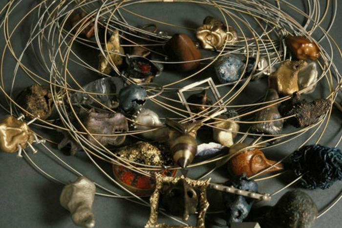 "Keith Lewis, ""35 Dead Souls"", 1992-93, electroformed pendants"