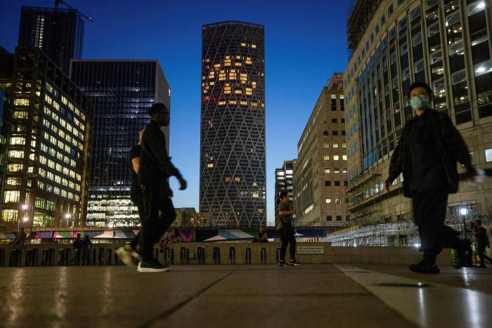 The skyscrapers in Canary Wharf have resembled a ghost town since the pandemic but some workers are starting to return