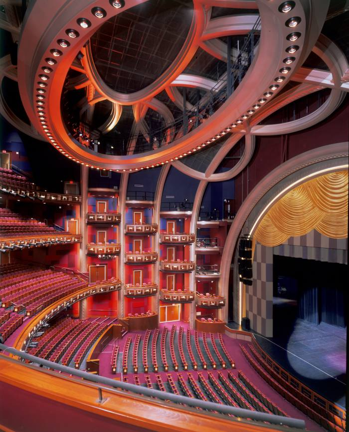 The Rockwell-designed interior of theDolby Theatre in Hollywood