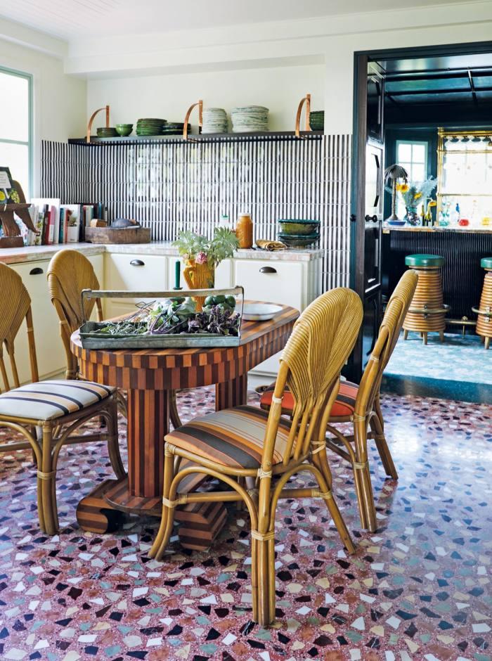 The kitchen inChristiansen's LosAngeles home