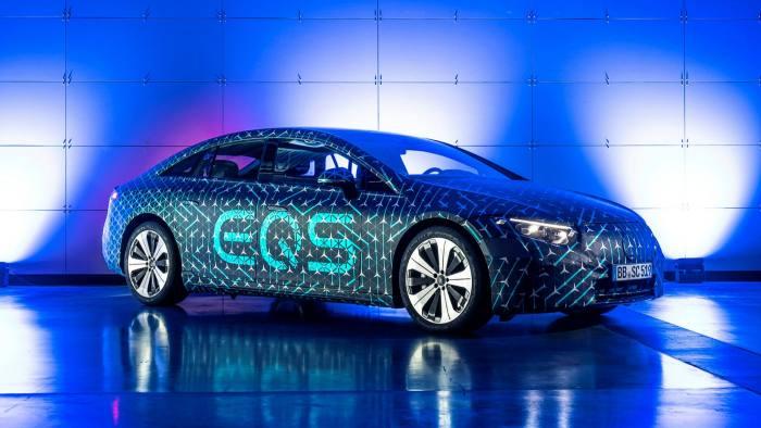 The Mercedes EQS model