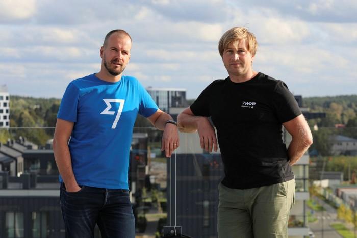 Entrepreneurs Taavet Hinrikus, left, and Kristo Kaarmann