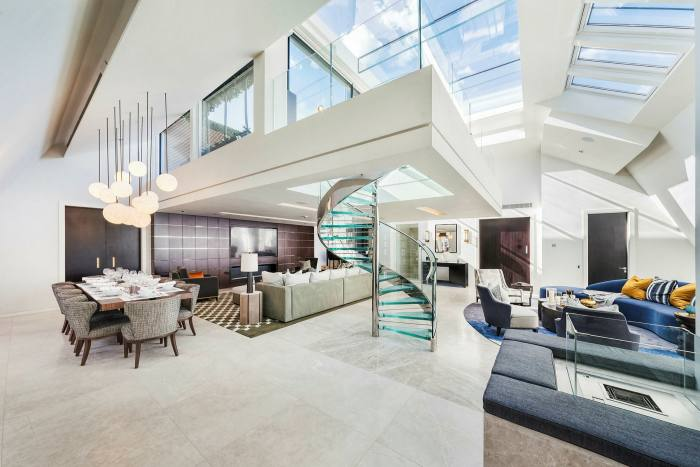 A four bedroom penthouse in Carlos Square, Mayfair, £ 35,000 per week