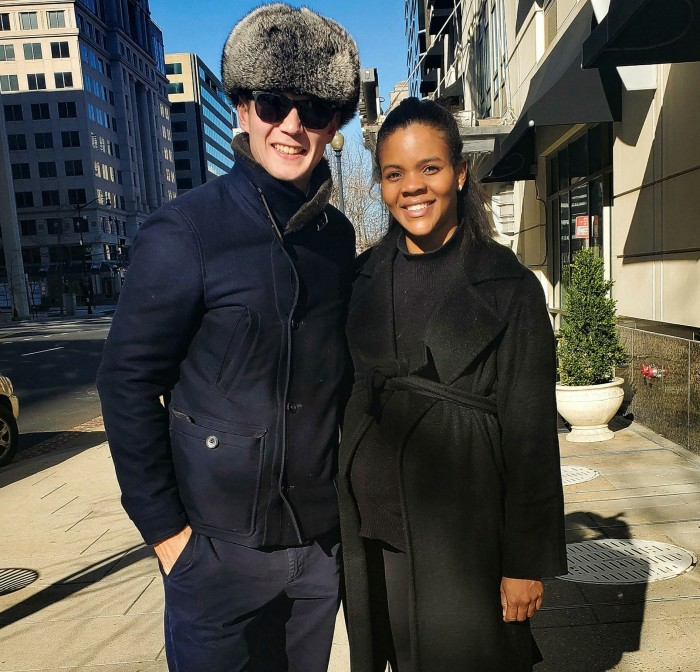 George Farmer and Candace Owens in Washington on January 9, 2021