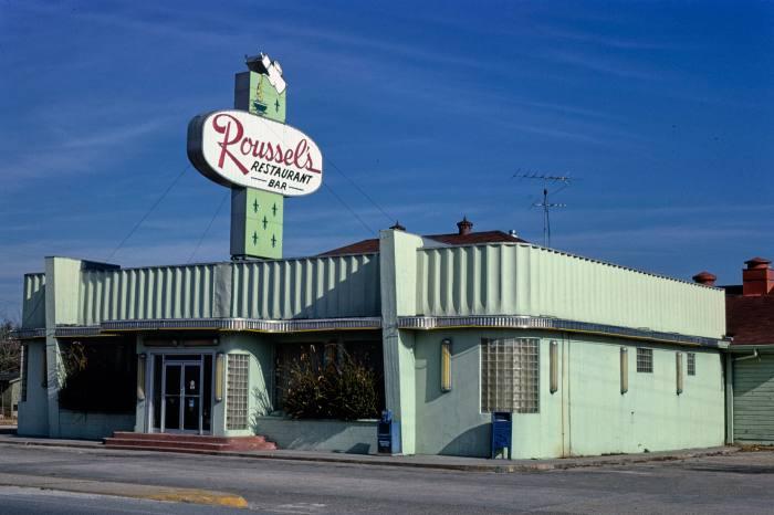 Roussel's Restaurant,Route 61, La Place, Louisiana, 1979