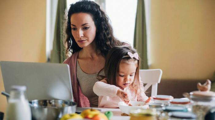 In the UK, mothers of young children spent an average of five hours a day on home schooling, while fathers spent two