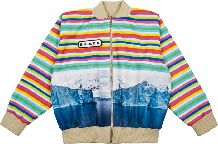 Arctic Rainbow bomber by BASEC – all proceeds go into the development of teaching programmes