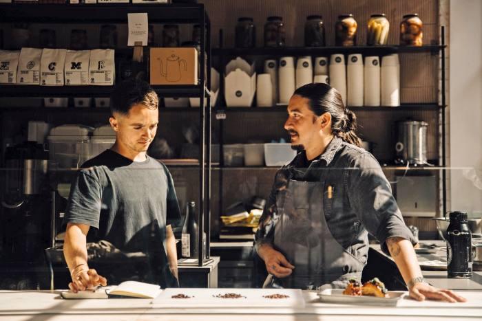 Wilf Marriott (left) and Joshua Meiseman of Islands Chocolate
