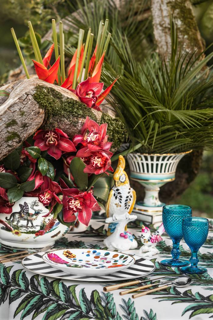 Vista Alegre's Caribe tableware collection by Christian Lacroix