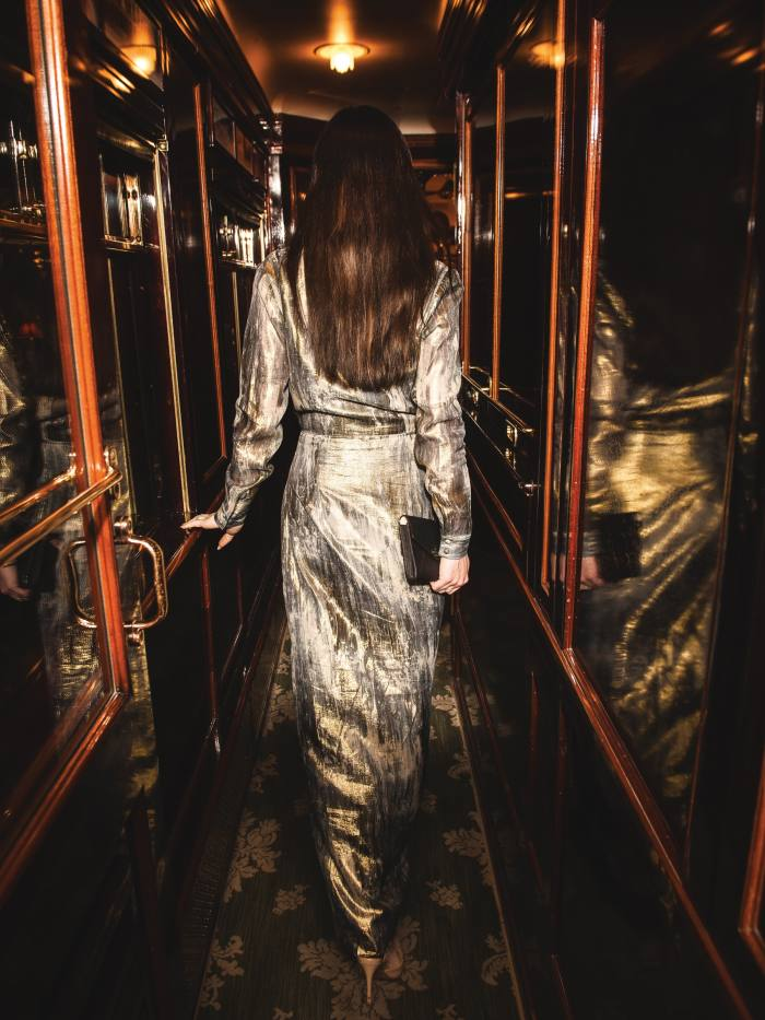 """""""You can never be overdressed aboardthe Venice-Simplon Orient Express"""""""