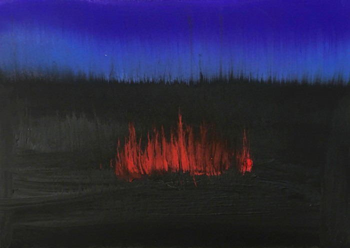 Anish Kapoor's acrylic on paper for the 'Scorched Earth' auction