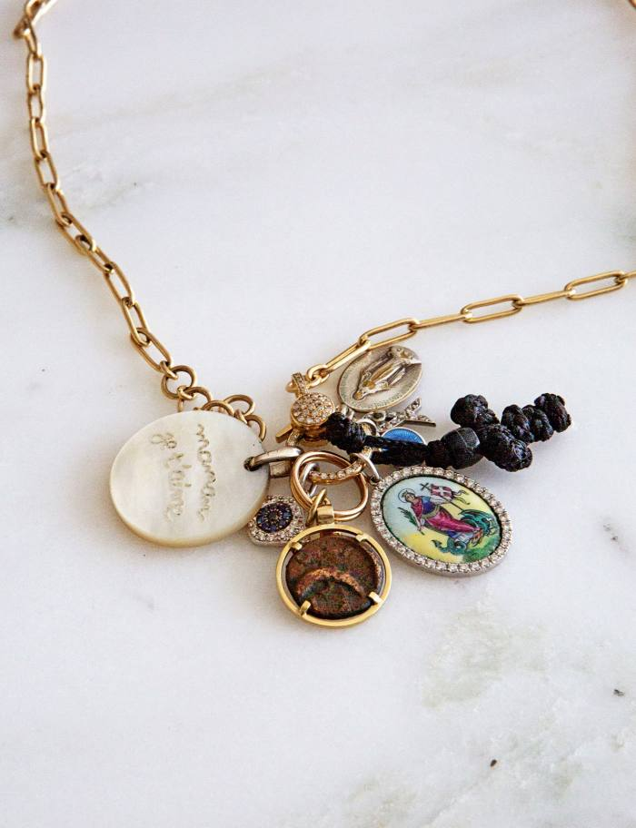 The object Grabowski-Mitsotakis would never part with: her lucky charm necklace