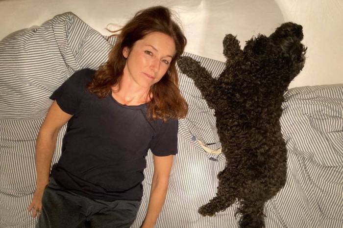 Picture editor Katie Webb with her cockapoo Coco
