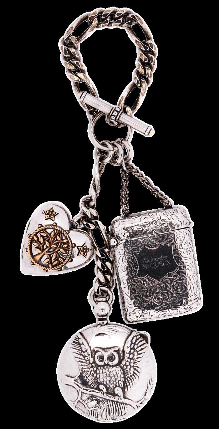 Alexander McQueen lockets and matchbox, £790