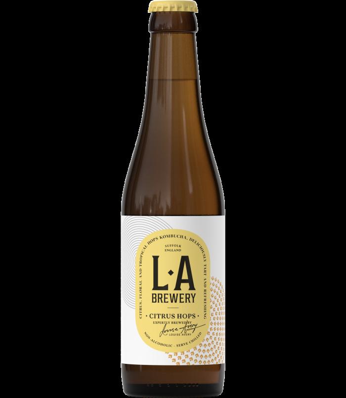 LA Brewery Citrus Hops Kombucha, £30 for 12 330ml bottles
