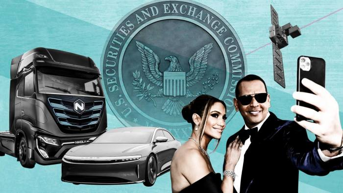 The involvement of stars including Jennifer Lopez and Alex Rodriguez and excitement around technology such as hydrogen trucks have boosted the Spac market