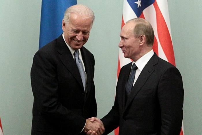 The White House said President Joe Biden, left, intends to rebuke Russian president Vladimir Putin over cyber crime when the two leaders meet at a summit in Geneva on June 16