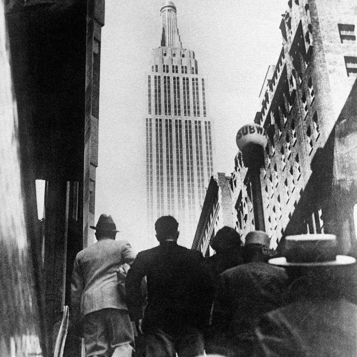 'Exit from the Metro Station in front of the Empire State Building', 1933