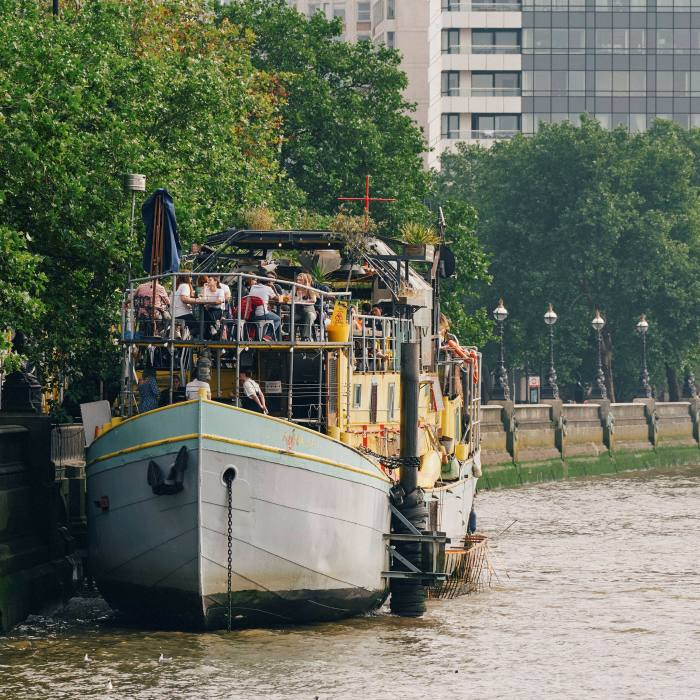 The floating venue is a converted 1930s barge
