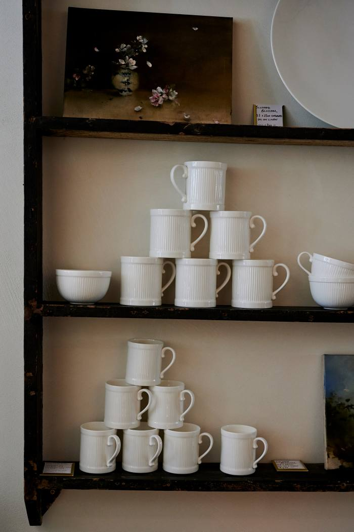 Bone-china breakfast mugs and cups, from £17