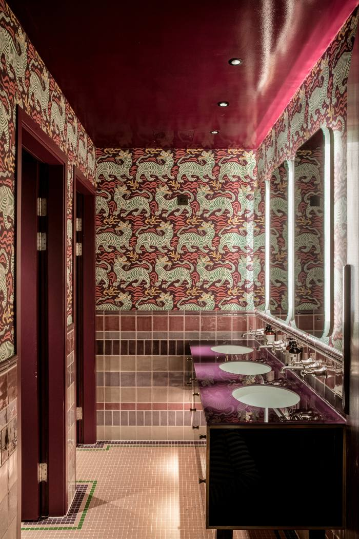 Suzy Hoodless Lacquer Ceiling at the AllBright Members Club
